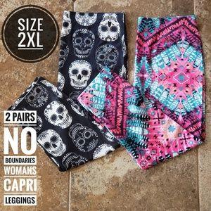 Womans No Boundaries Graphic Capri Leggings